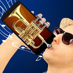 Plays the trumpet simulator
