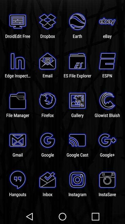 Glowist Bluish - Icon Pack Screenshot 4