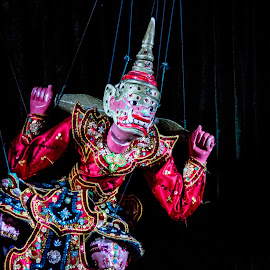 Puppet by Tina Lim - Artistic Objects Toys ( myanmar, doll, toy, puppet, yangon, show, strings )