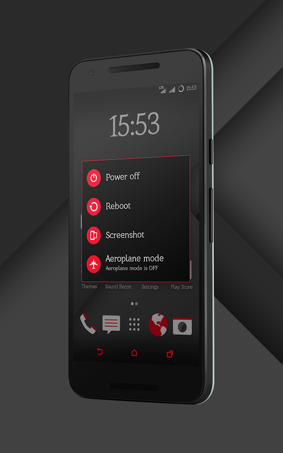 Sense Black/Red cm13 theme Screenshot 11