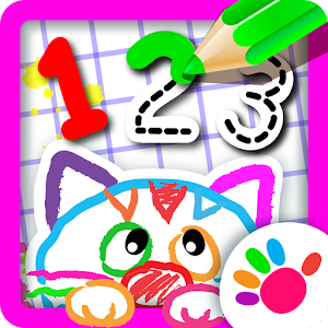 123 Draw🎨 Toddler counting for kids Drawing games Icon