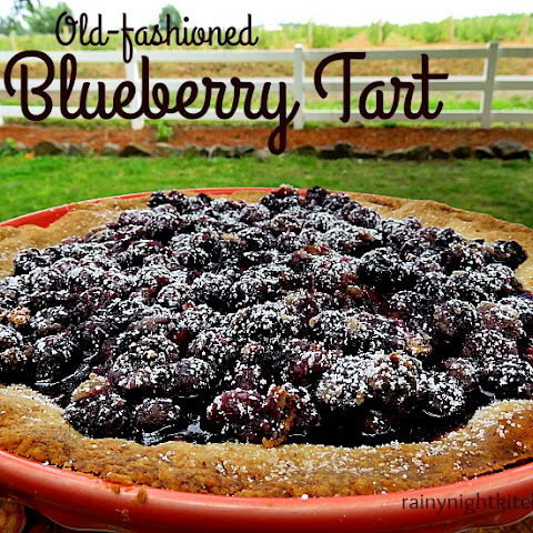 Old Fashioned Blueberry Tart