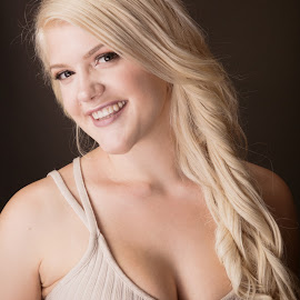 Great Face by Monte Arnold - People Portraits of Women ( blonde, beautiful, smile, curves, portrait )
