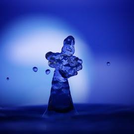 Small water spirit by Elke Krone - Nature Up Close Water ( blau, wassertropfen, wasser, natur )