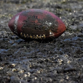 For Love of the Game  by Deborah Lucia - Sports & Fitness American and Canadian football ( mud, football, sport, fall_sports, rain )