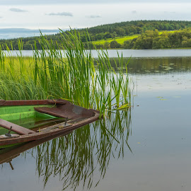 Reflections on a calm Irish Lake. by John Greene - Landscapes Waterscapes ( tranquil water, calm, peaceful, ireland, callous lake, carrigallen, leitrim, john greene )