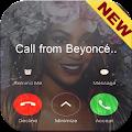 Fake call from beyoncé ☆☆☆ APK for Bluestacks