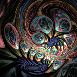 The Eyes Have It by RS Bartlett - Illustration Abstract & Patterns ( abstract, chaos, color, digital art, fractals )