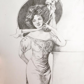 19th Century Woman by Selene Andreasen - Drawing All Drawing