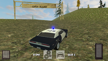 Screenshot of Muscle Police Car Driving