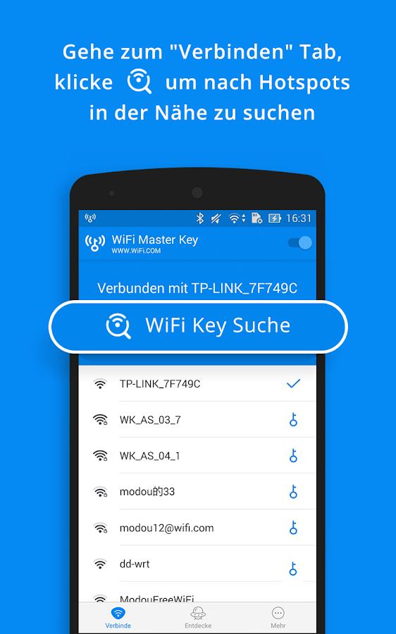 WiFi Master Key - von wifi.com – Screenshot