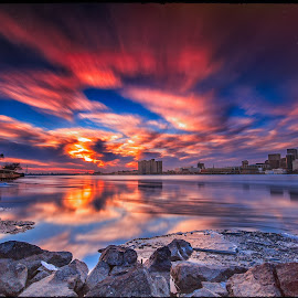 by Darren Breckles - Landscapes Waterscapes ( canon, clouds, canon 6d )