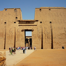 Temple of Horus at Edfu .-  Egypt by Jerko Čačić - Buildings & Architecture Public & Historical