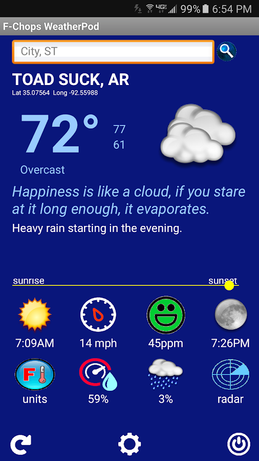 The Best Funny Weather by F-Chops WeatherPod Screenshot 2