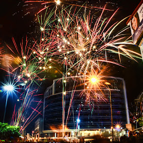 New Year's Eve by Gema Goeyardi - News & Events World Events ( new year, christmas, fireworks, party, landscape )