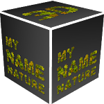 3D My Name Nature fonts LWP Icon
