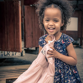 Her new dress by Matt Shell - Babies & Children Children Candids ( frankfurt, girl, happy, dress, germany )