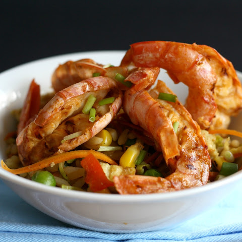 Mozambican Prawns with Fried Rice