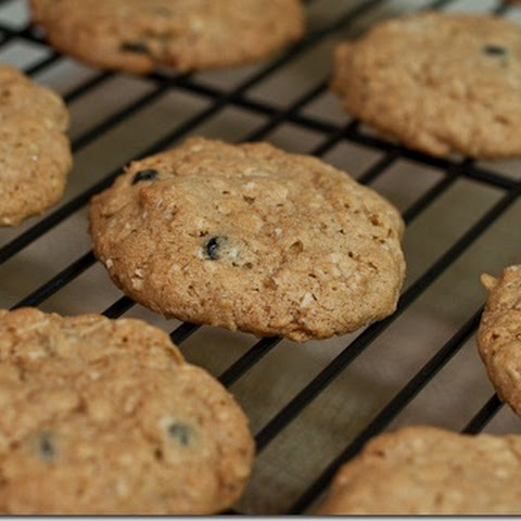 Crispy Blueberry Oatmeal Cookies
