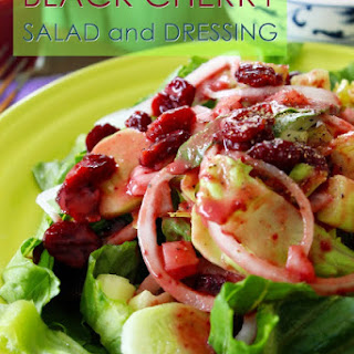 Sweet Black Cherry Salad with Cherry Dressing