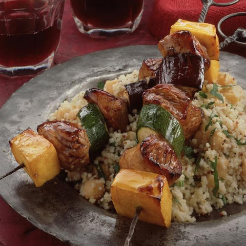 Turkey Kebabs with Couscous