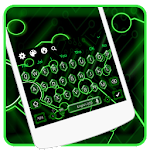 Green Neon Technology Keyboard Icon