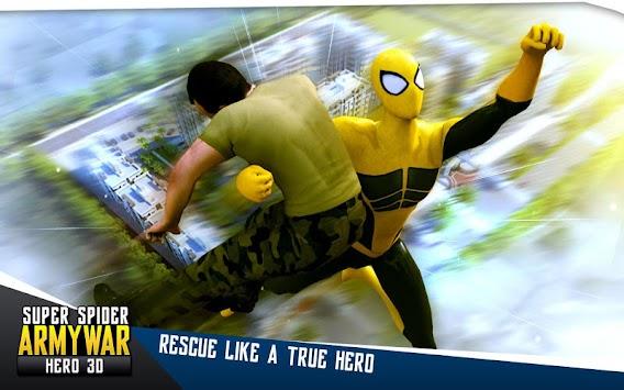 Super Spider Army War Hero 3D apk screenshot