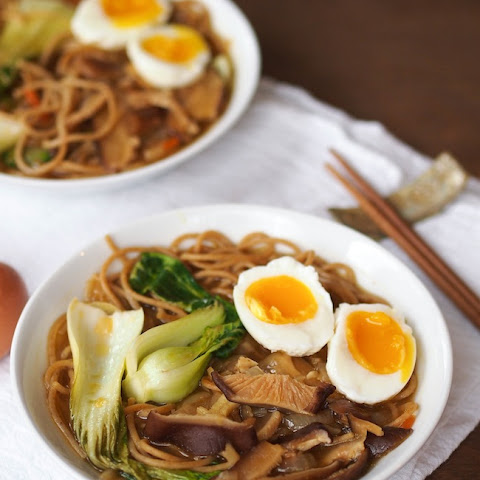 Vegetarian Ramen Soup with Shiitakes and Bok Choy
