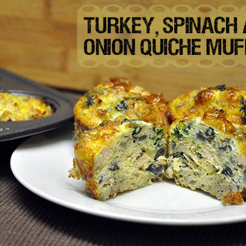 Turkey, Spinach and Onion Quiche Muffins