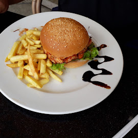 Yummy Burger by Michelle Scheepers - Food & Drink Plated Food ( burger,  )