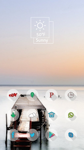 Red sunny theme bridge - screenshot
