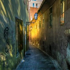 Old Street in Zagreb by Siniša Biljan - City,  Street & Park  Street Scenes
