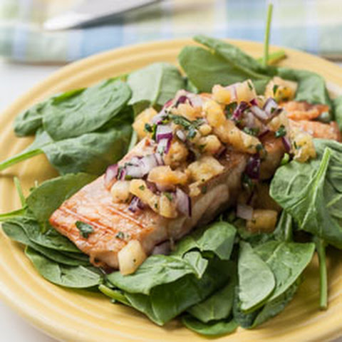 Grilled Salmon with Fresh Pineapple Salsa