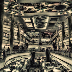 The Mall by Muhammad Muqri - Buildings & Architecture Architectural Detail ( building, hdr, architecture, people, drawing )