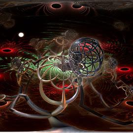 Off Balance by Rick Eskridge - Illustration Sci Fi & Fantasy ( fantasy, mb3d, jwildfire, fractal, twisted brush )