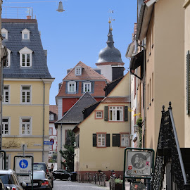Ancient Street of Heidelberg by Victor Eliu - City,  Street & Park  Street Scenes ( ancient, heidelberg, germany, street scene, cityscape )
