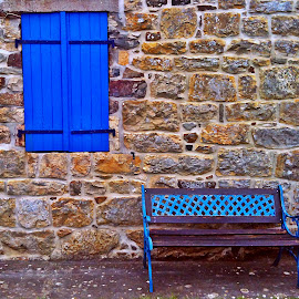 Walking by Dobrin Anca - Buildings & Architecture Other Exteriors ( sky, window, blue, door, brittany )