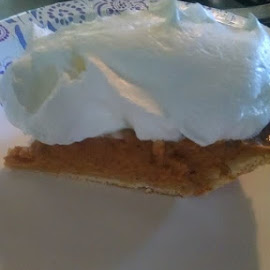 I only put one spoonful of coolwhip on my pumpkin pie. by Kevin Bittner - Food & Drink Cooking & Baking