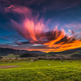 Dragon clouds by Laky Kucej - Landscapes Cloud Formations