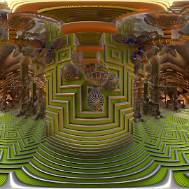 Halls Of Howser by Rick Eskridge - Illustration Sci Fi & Fantasy ( jwildfire, mb3d, fractal, acdsee 19, twisted brush )