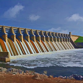 ----------The Lake Whitney Dam---------- by Neal Hatcher - Buildings & Architecture Other Exteriors