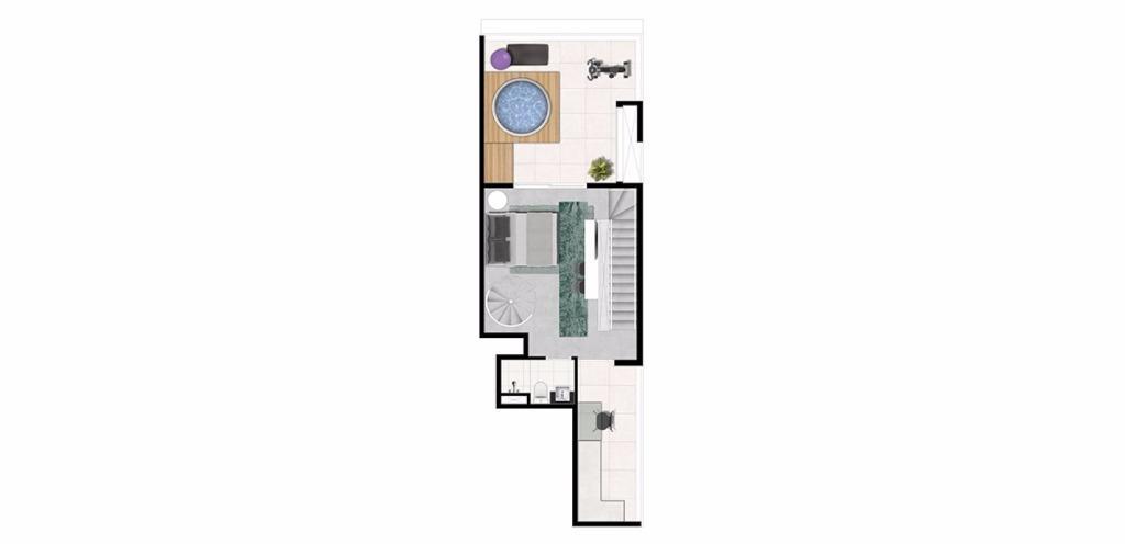 Planta Triplex Superior 140 m²