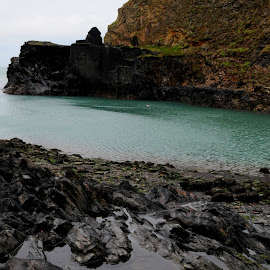 Slate Pool by DJ Cockburn - Landscapes Beaches ( wales, pembrokeshire, slate, sea, beach, coastline, landscape, coast, abereiddi, quarry, pool, pembrokeshire coast national park, blue lagoon, national trust, abereiddy, st david's peninsula )