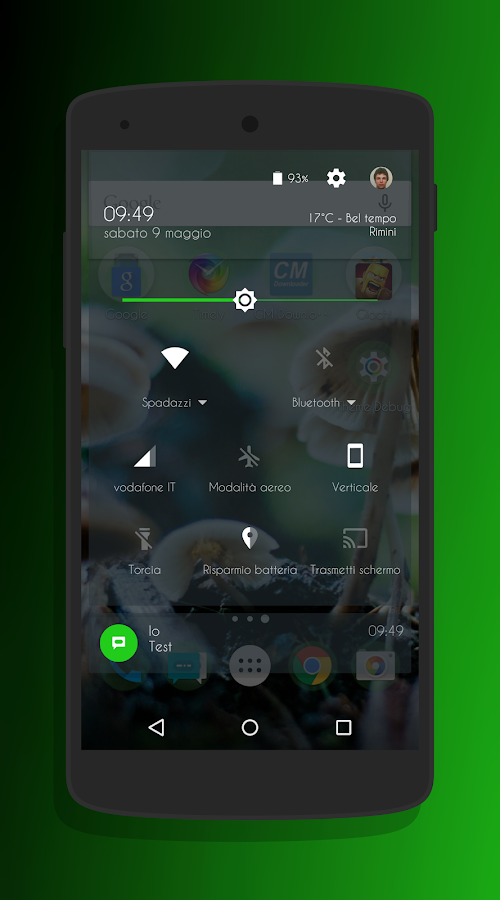 Transparent Green - CM13 Theme Screenshot 2