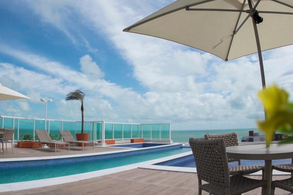 Apartamento com 1 dormitório para alugar, 39 m² por R$ 1.400/mês - Jardim Oceania - João Pessoa/PB