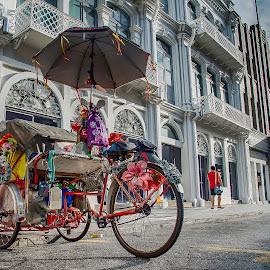 Beach Street, Penang by Lim Keng - City,  Street & Park  Street Scenes