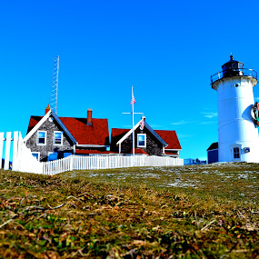 Nobska Light by Lizz Condon - Travel Locations Landmarks ( pwclandmarks )