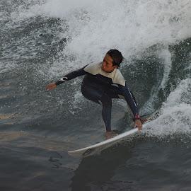 HB Surfer by Jose Matutina - Sports & Fitness Surfing ( water, surfer, orange county, california, sport, ocean, huntington beach )