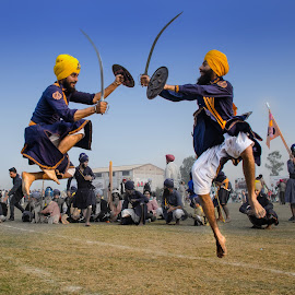 Gatka Fight by KP Singh - Sports & Fitness Other Sports ( sikh, kila raipur, nihang, martial art, gatka )