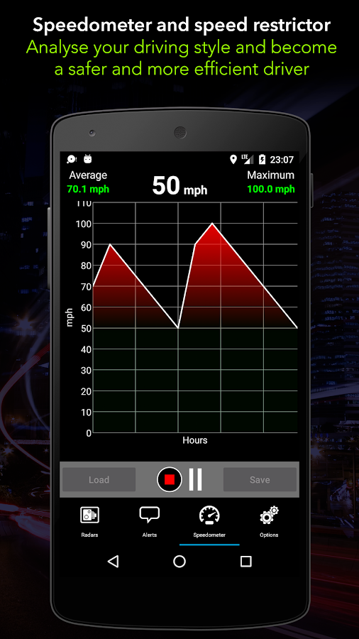 Radarbot Pro: Speed Camera Detector & Speedometer Screenshot 3